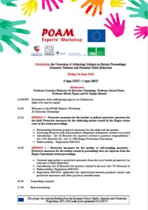June 2020 POAM Experts' Workshop